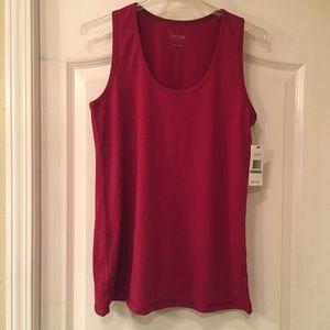 Red Calvin Klein workout tank top size large.